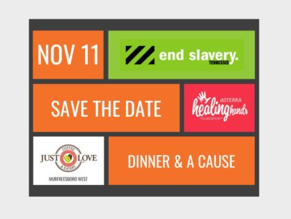 """New Podcast - Recap - """"Dinner & A Cause"""" Benefitting End Slavery TN"""